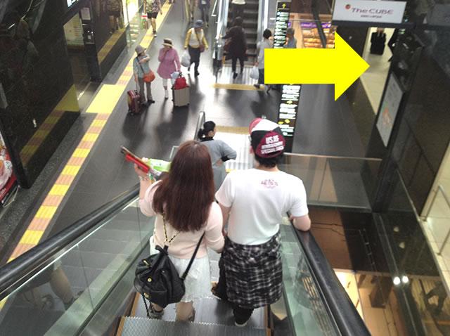 地下中央口直結の荷物一時預かり所への道順01
