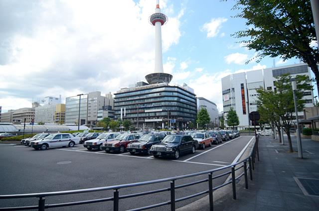 JR京都駅のタクシー乗り場(京都タワー側)