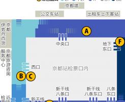 京都站绿色窗口位置图