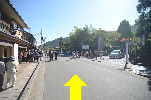JR嵯峨嵐山駅から嵐山への道順11