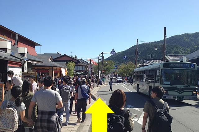 JR嵯峨嵐山駅から嵐山への道順12