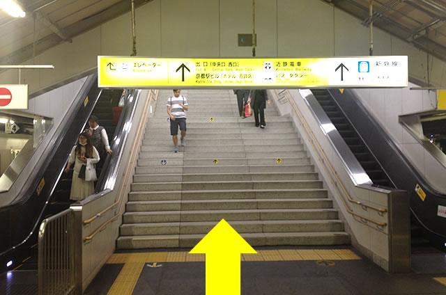 JR在来線から山陰線(嵯峨野線)への道順行き方01