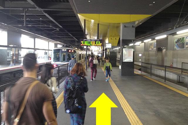 JR在来線から山陰線(嵯峨野線)への道順行き方08