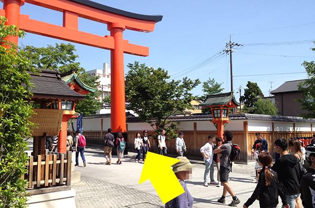 京阪の伏見稲荷駅から伏見稲荷大社への行き方道順06
