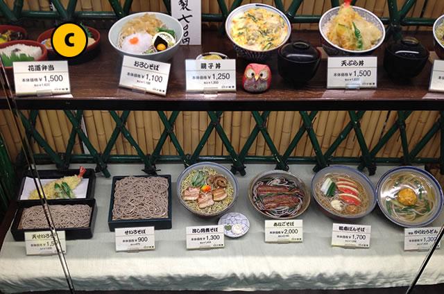 JR京都駅新幹線コンコース構内にしんそば松葉のメニュー