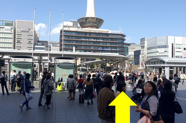 JR京都站到清水寺最快路线实景示意图02
