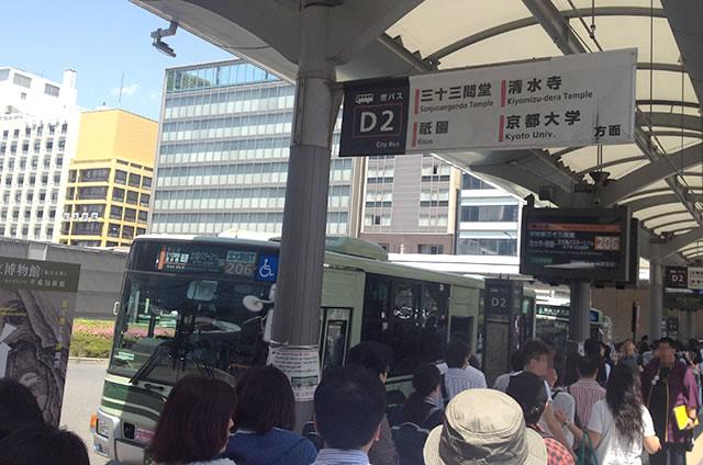 JR京都站到清水寺最快路线实景示意图04