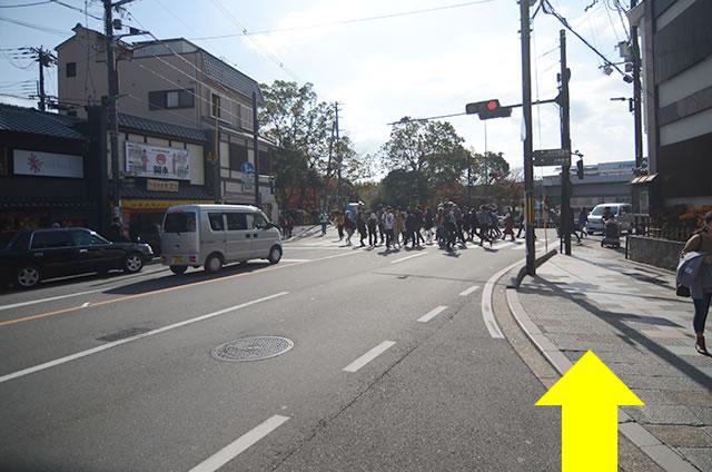 JR京都站到清水寺最快路线实景示意图06