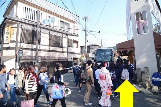 JR京都站到清水寺最快路线实景示意图08