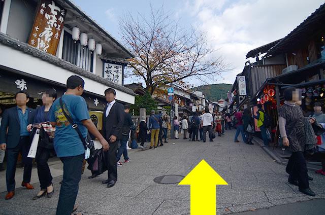 JR京都站到清水寺最快路线实景示意图13