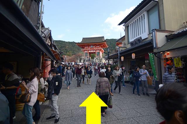 JR京都站到清水寺最快路线实景示意图15