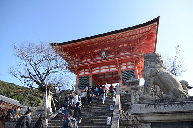 JR京都站到清水寺最快路线实景示意图16清水寺仁王门