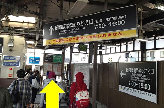 JR京都站到清水寺最快路线实景示意图26JR在JR东福寺站换乘