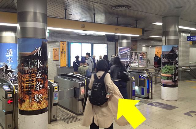 JR京都站到清水寺最快路线实景示意图29