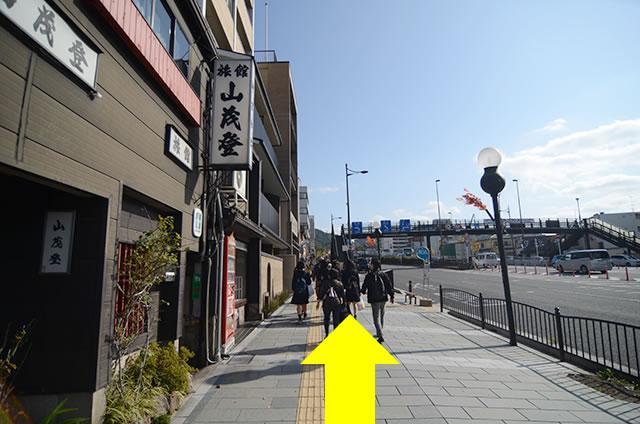 JR京都站到清水寺最快路线实景示意图32沿着五条通向东(山的方向)走