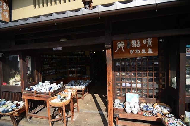 JR京都站到清水寺最快路线实景示意图33清水烧的商店