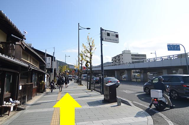 JR京都站到清水寺最快路线实景示意图34东山通