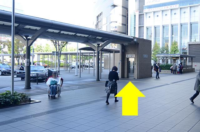 JR京都駅中央口から地下鉄のりばへの行き方道順06