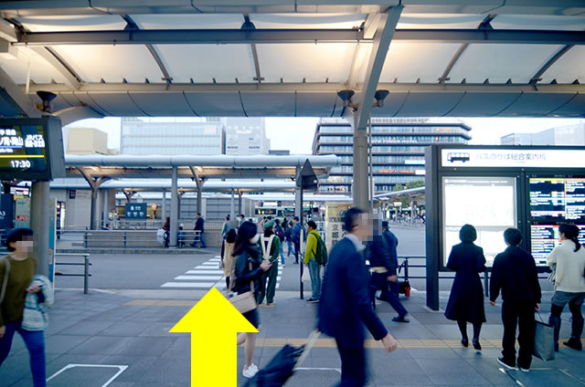 JR京都站到金阁寺的路线01