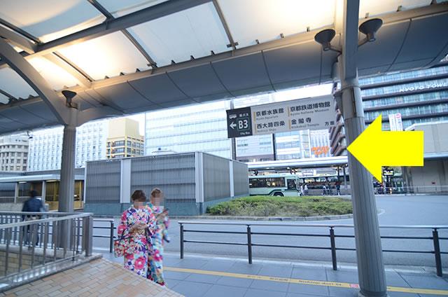 JR京都站到金阁寺的路线03