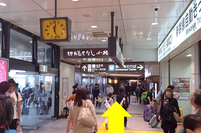 JR京都站在来线八条东口到新干线八条口的走法02