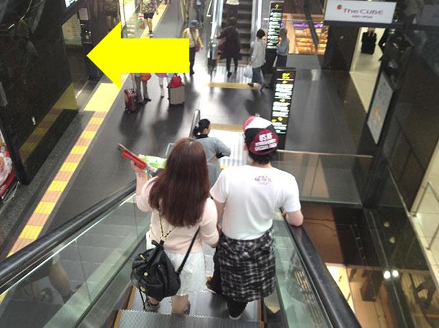 JR京都駅地下中央口から1番目に近いコインロッカーへの道順02