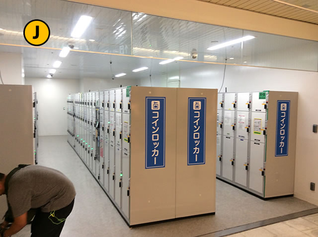 JR京都駅地下東口から最も近いコインロッカーまでの道順03