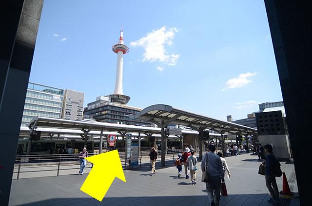 新幹線中央口出口からJR京都駅バス乗り場へ06