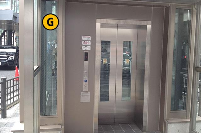JR京都駅八条口 一般車乗降場行きエレベーター1F