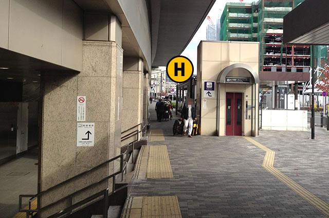 JR京都駅八条東口外 エレベーター1F