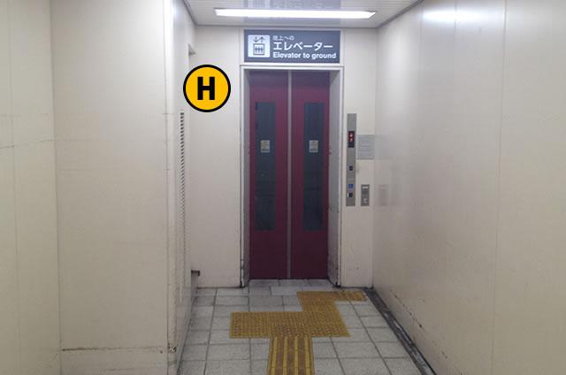 JR京都駅八条東口外 エレベーターB1