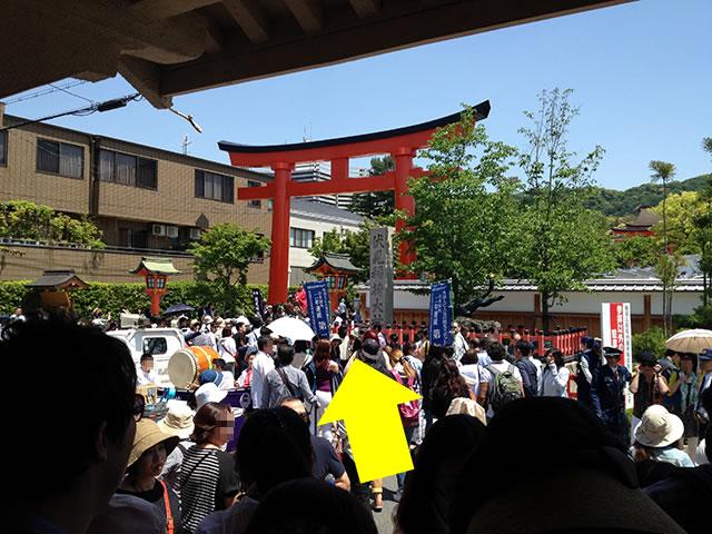 駅の目の前が「伏見稲荷大社」です。