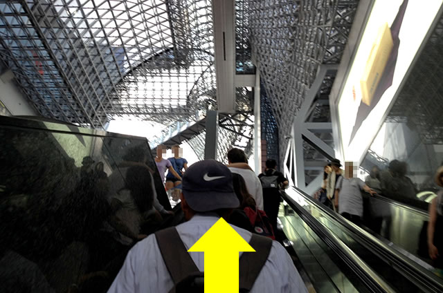JR京都駅中央口から新幹線中央口への道順