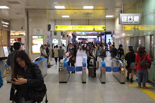 JR京都駅新幹線中央口改札内