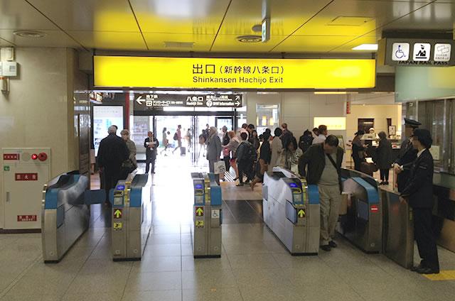 JR京都駅新幹線八条口改札内