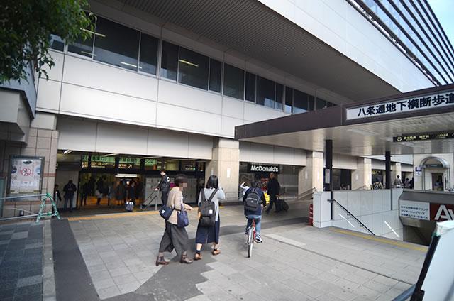 JR京都駅東口外より