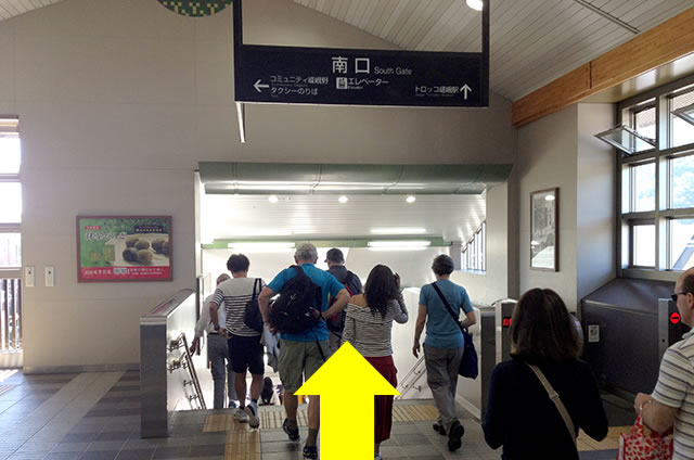 JR嵯峨嵐山駅から嵐山への道順02