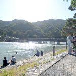 京都嵐山(渡月橋)のテレビでよく見る風景