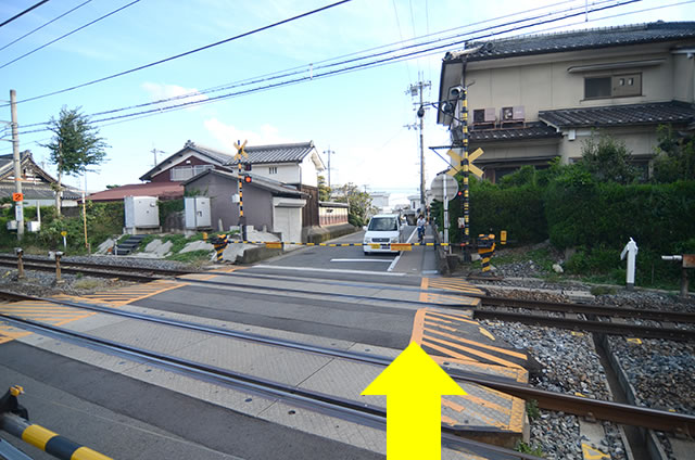 JR太秦駅から東映太秦映画村までの道順行き方05