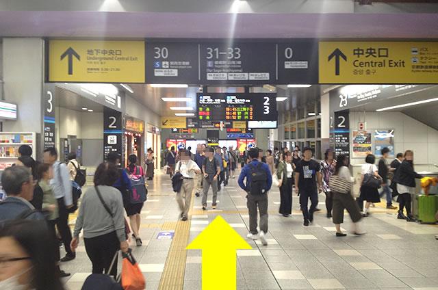 JR在来線から山陰線(嵯峨野線)への道順行き方02