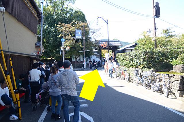 JR嵯峨嵐山駅から天龍寺への道順01
