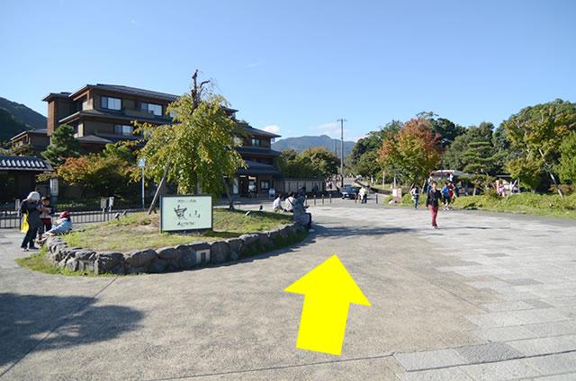 阪急嵐山駅から渡月橋から天龍寺までの行き方道順01