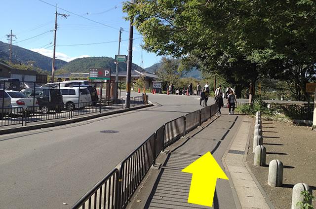 阪急嵐山駅から渡月橋から天龍寺までの行き方道順02