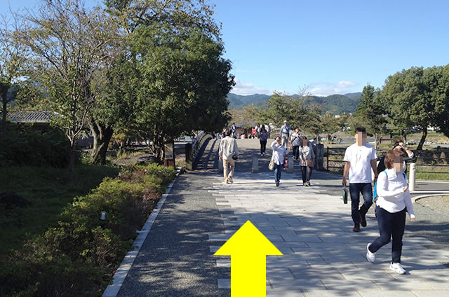 阪急嵐山駅から渡月橋から天龍寺までの行き方道順05
