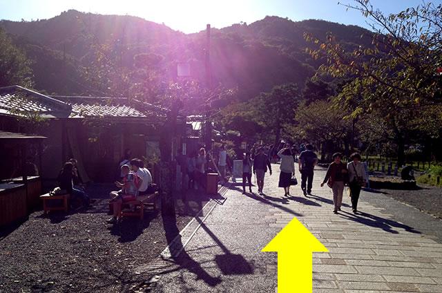 阪急嵐山駅から渡月橋から天龍寺までの行き方道順07