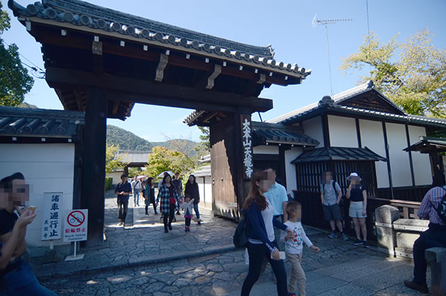 阪急嵐山駅から渡月橋と天龍寺と竹林の道を通って野宮神社への行き方道順01
