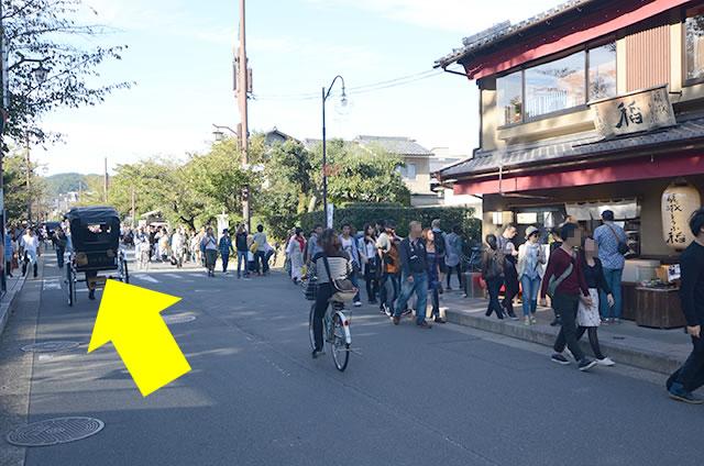 京福(嵐電)嵐山駅から竹林の道を通って野宮神社への行き方道順01