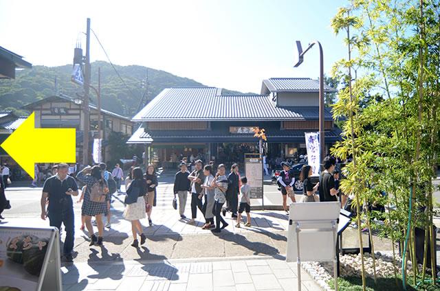京福(嵐電)嵐山駅から渡月橋までの行き方道順02