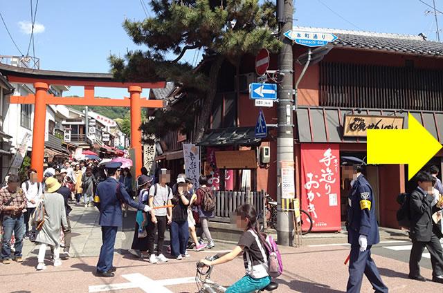 京阪の伏見稲荷駅から伏見稲荷大社への行き方道順03