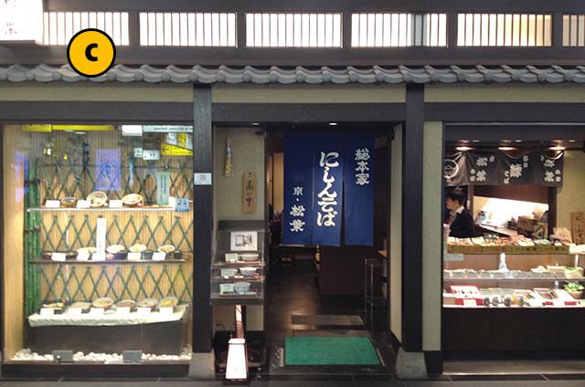 JR京都駅新幹線コンコース構内総本家にしんそばの松葉